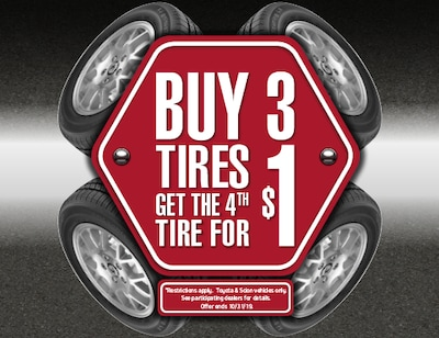 Buy 3 Tires - Get the 4th Tire for $1