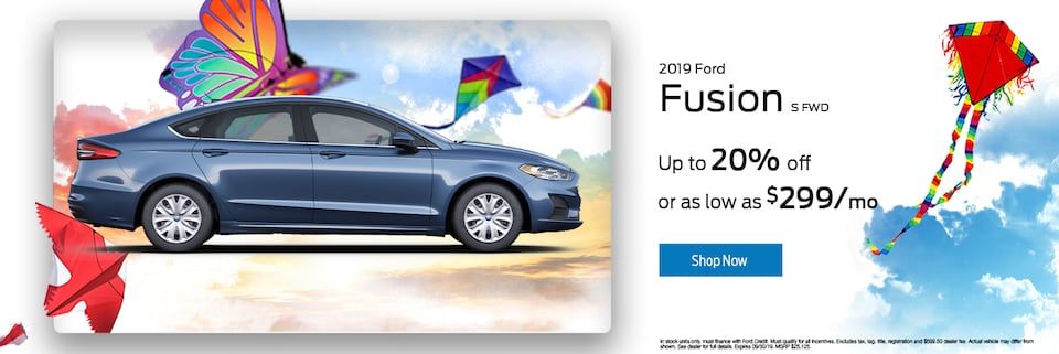 2019 Ford Fusion S 20% OFF