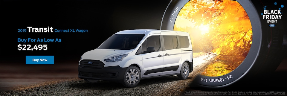 $1,000 cash back and 0.9% APR for 36 months on select Ford Transit Connect models