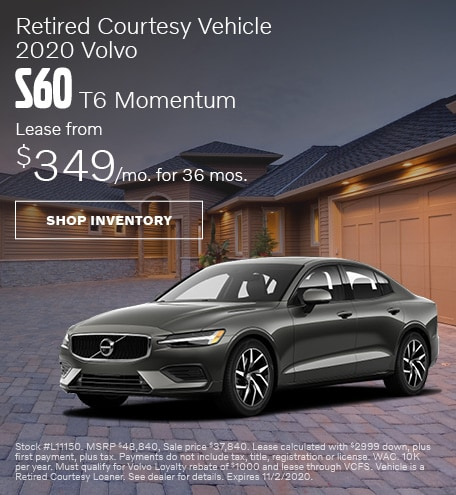 October | Retired Courtesy Vehicle | 2020 Volvo S60 T6 Momentum