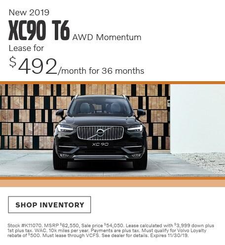 November | 2019 XC90 T6 AWD Momentum