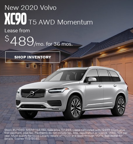 October | 2020 Volvo XC90 T5 AWD Momentum
