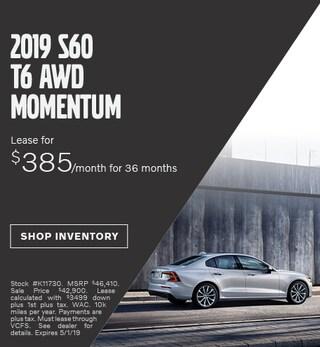 April 2019 | 2019 S60 T6 AWD Momentum