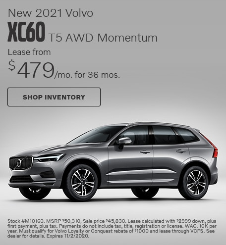 October | 2021 Volvo Xc60 T5 AWD Momentum