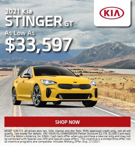 2021 Kia Stinger offer