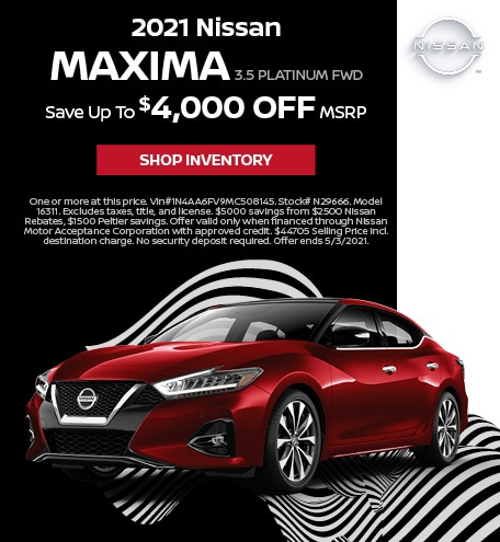 2021 Nissan Maxima 3.5 Platinum FWD | April Offer