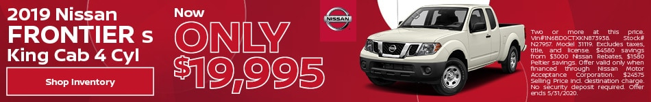 2019 Nissan Frontier S King Cab 4 Cyl May