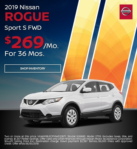 2019 Rogue Sport - Lease