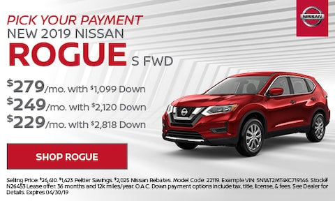 2019 Rogue Pick Your Payment