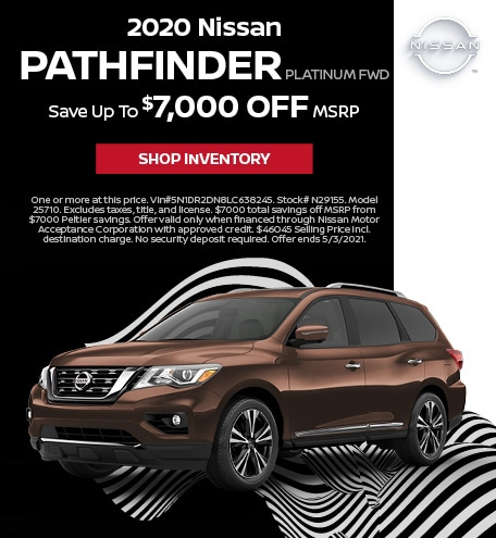 2020 Nissan Pathfinder Platinum FWD | April Offer