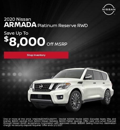 2020 Nissan Armada Platinum Reserve RWD January
