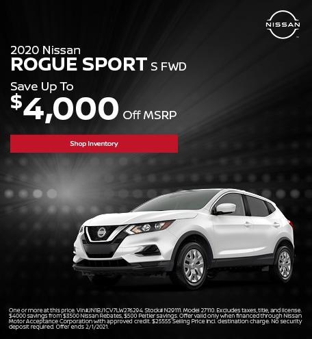 2020 Nissan Rogue Sport S FWD January