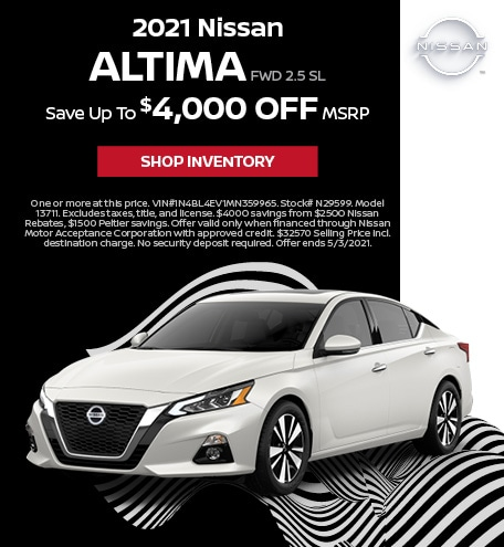 2021 Nissan Altima FWD 2.5 SL | April Offer