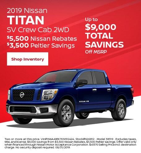 2019 Nissan Titan SV Crew Cab 2WD