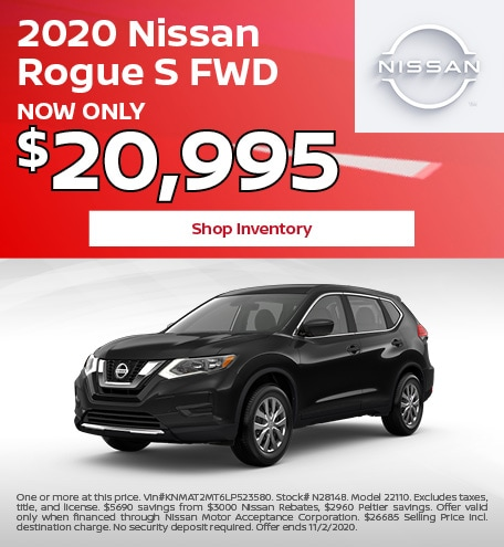 2020 Nissan Rogue S FWD October