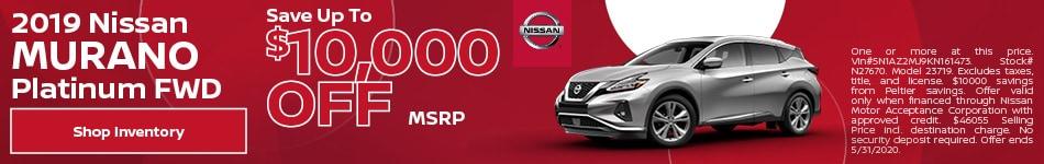 2019 Nissan Murano Platinum FWD May