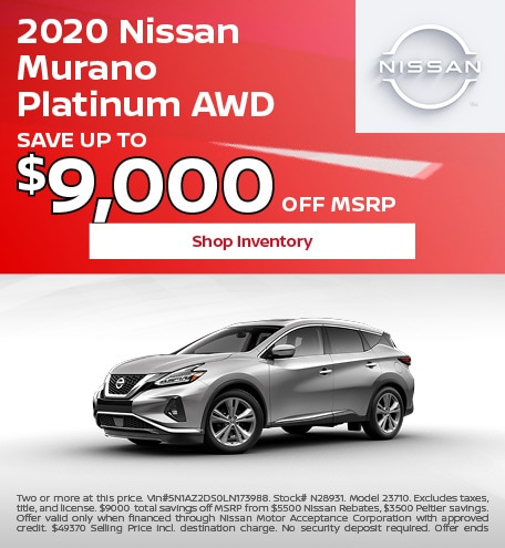 2020 Nissan Murano Platinum AWD October
