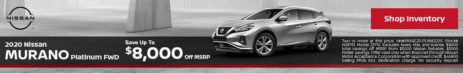 2020 Nissan Murano Platinum FWD September
