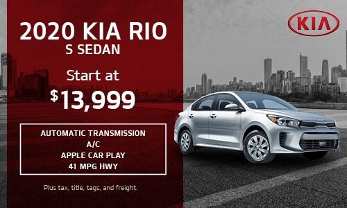 2020 Kia Rio S Sedan
