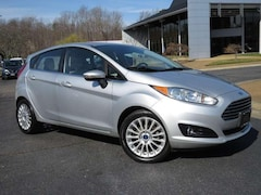 Bargain Used 2015 Ford Fiesta Titanium + Leather + Sunroof + Camera + Bluetooth 4 Door Hatchback for Sale in Midlothian near Richmond