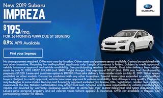 New 2019 Subaru Impreza