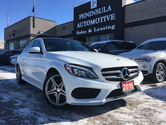 2015 Mercedes-Benz C-Class 300 Navigation Panoramic Roof AMG SPORT Package Sedan