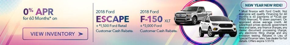 2018 Escape and F-150