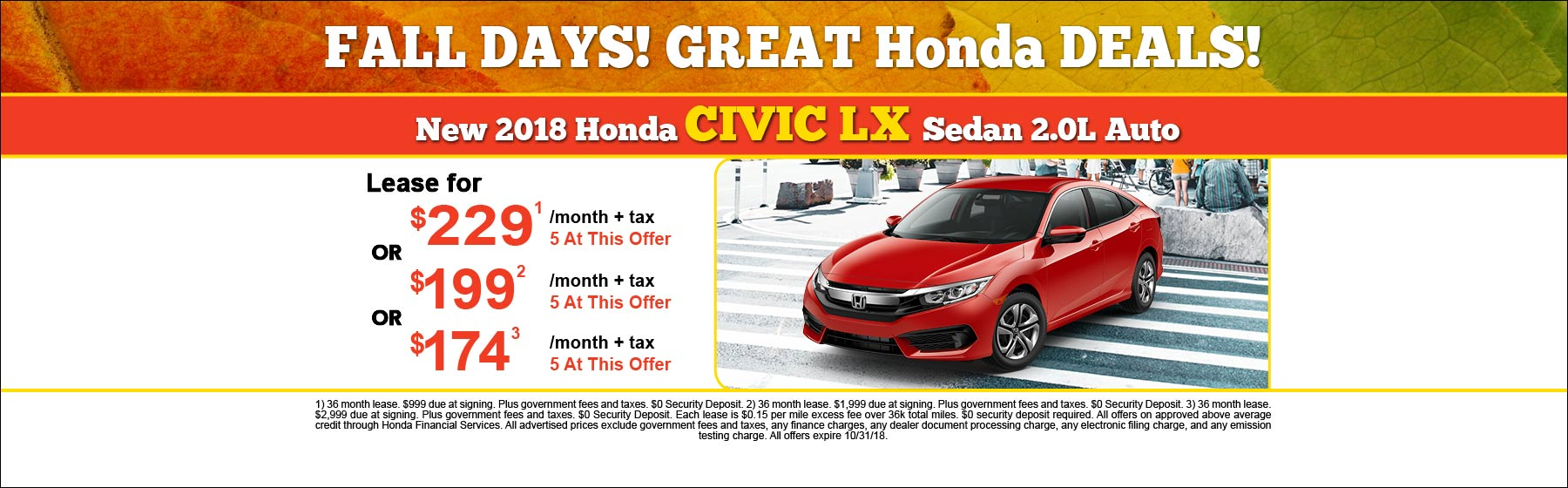 New Honda Lease Offer, Finance Specials In Chula Vista