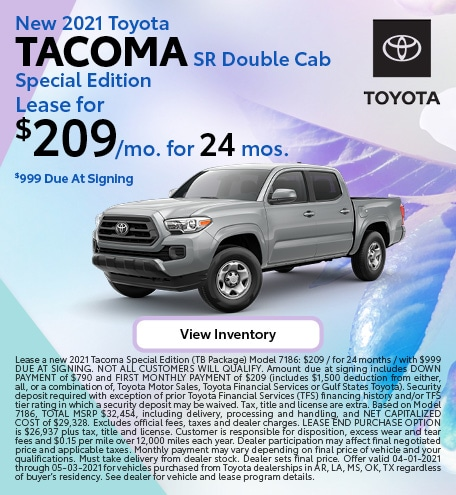 2021 Tacoma - April