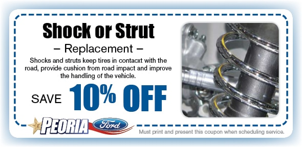 Shock or Strut Service Coupon, Peoria - Phoenix West Valley Automotive Service Special