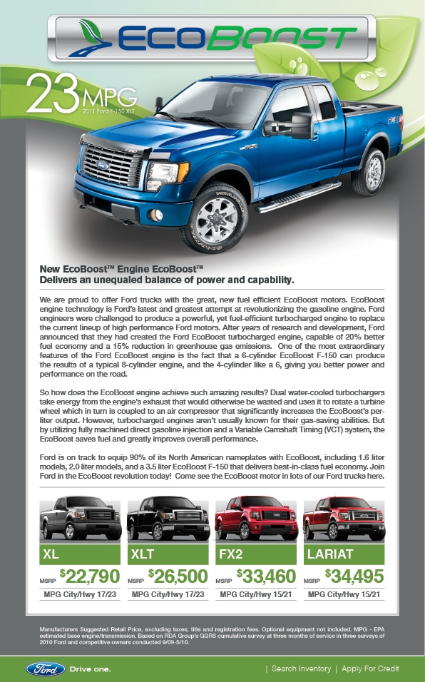 Direct Gasoline Injection And A Variable Camshaft Timing Vct System Which Augments Ford F Fuel Economy And Largely Increases Overall Performance