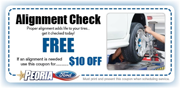Wheel alignment car truck service repair coupon for Ford motor service coupons