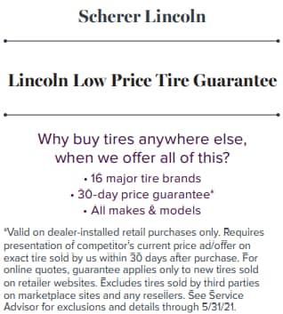 Lincoln Low Price Tire Guarantee