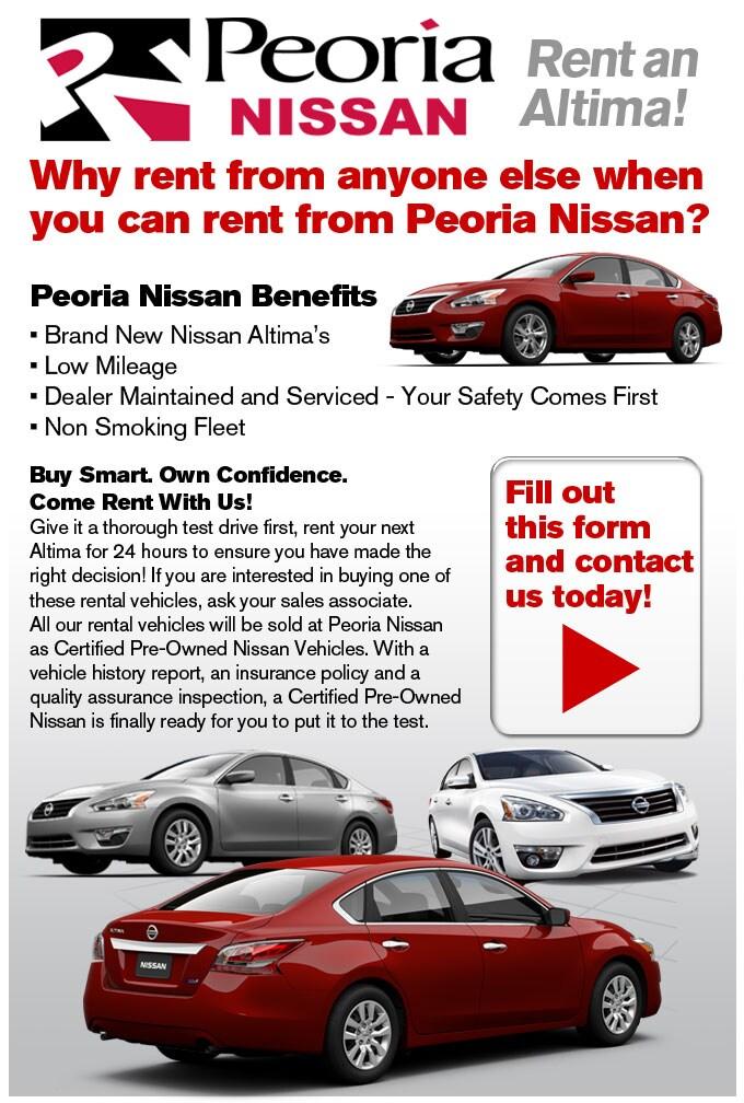 Peoria AZ Nissan Rental Cars | Car Rentals At Peoria Nissan