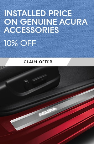 Installed Price on all Genuine Acura Accessories