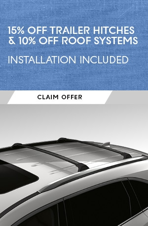 15% OFF TRAILER HITCHES & 10% OFF ROOF SYSTEMS