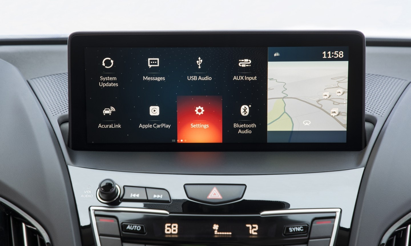 Acura center console technology