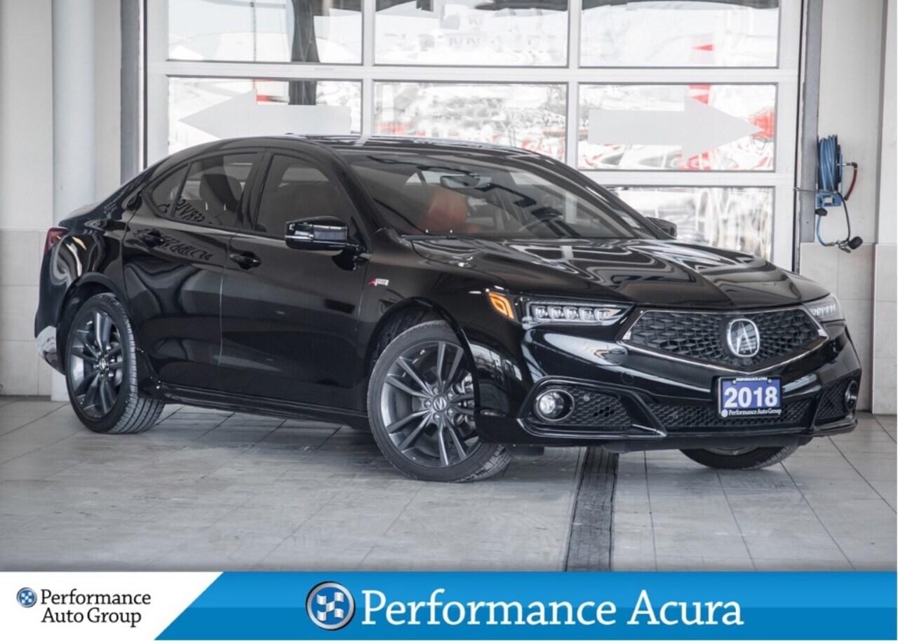 2018 Acura TLX Elite. A-Spec. Red Leather. Camera. Htd Seats Sedan