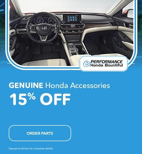 Genuine Honda Accessories 15% Off