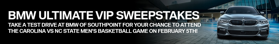UNC Sweepstakes   BMW of Southpoint