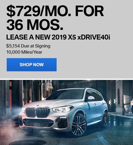 Lease a New 2019 X5 xDrive40i