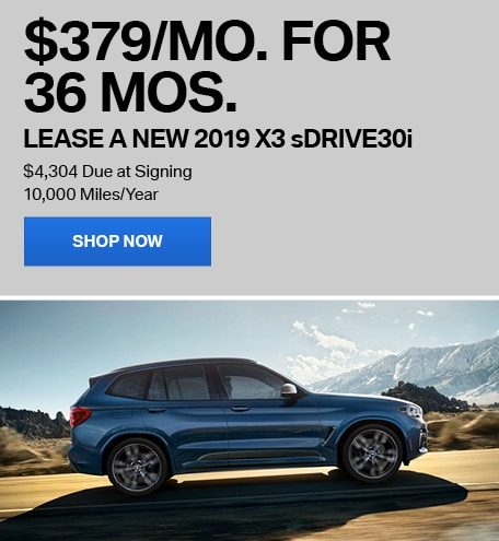 Lease a New 2019 X3 sDrive30i