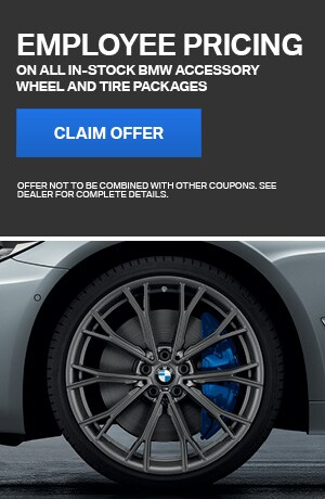 Employee Pricing On All In-Stock BMW Accessory Wheel & Tire Packages