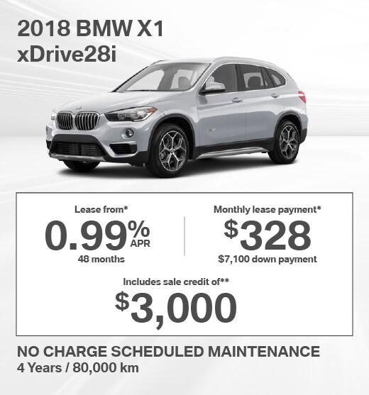 2018 BMW X1 Special Offer