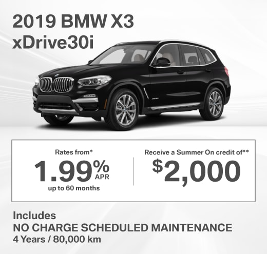 2019 BMW X3 Special Offer