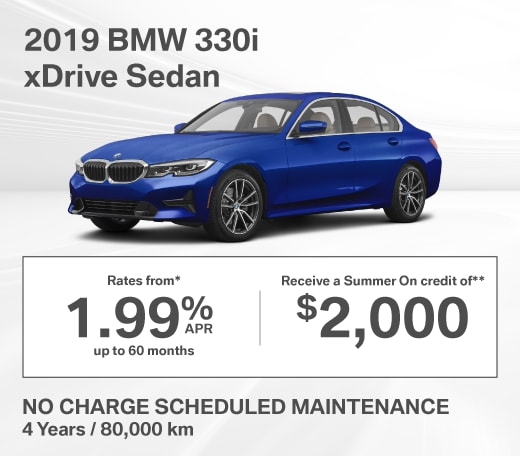 2019 BMW 330i xDrive Special Offer