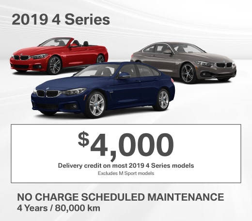 2019 BMW 4 Series Special Offer