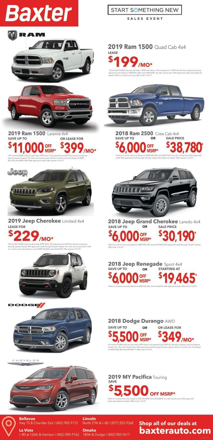 Lube Stop Near Me >> Baxter Chrysler Jeep Dodge Ram Ads | Jeep Dealership Near Me