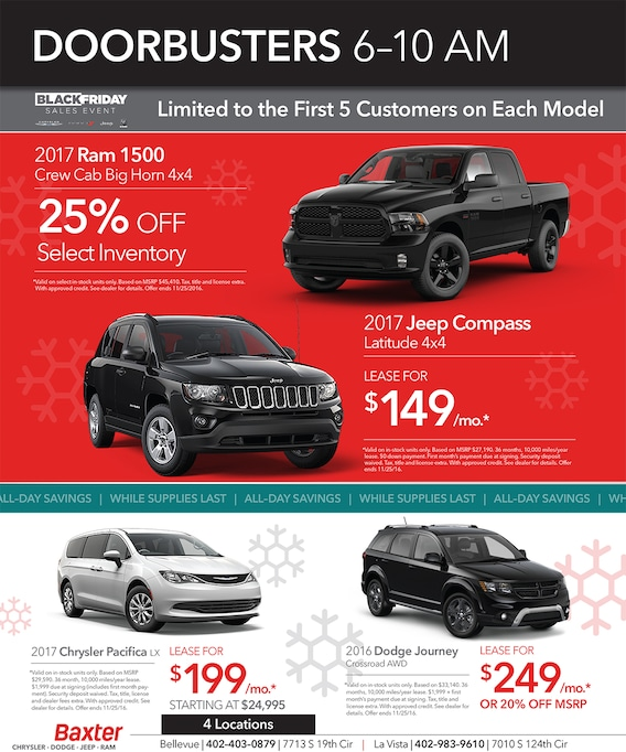 Baxter La Vista >> Black Friday Baxter Chrysler Dodge Jeep Ram Fiat Of La Vista