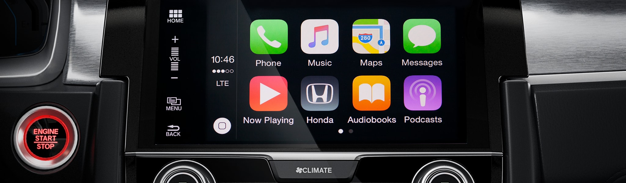 Apple Car Play and Android Auto available on the new Honda Civic